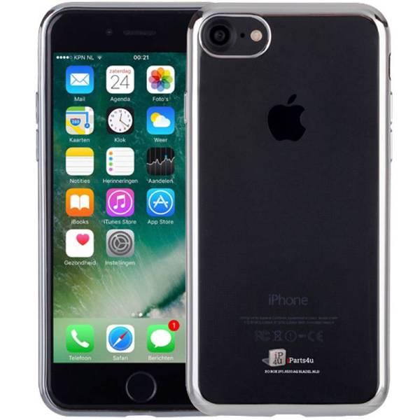 Ultra Dun iPhone 8/7 Bumper Case Hoesje Siliconen Zilver