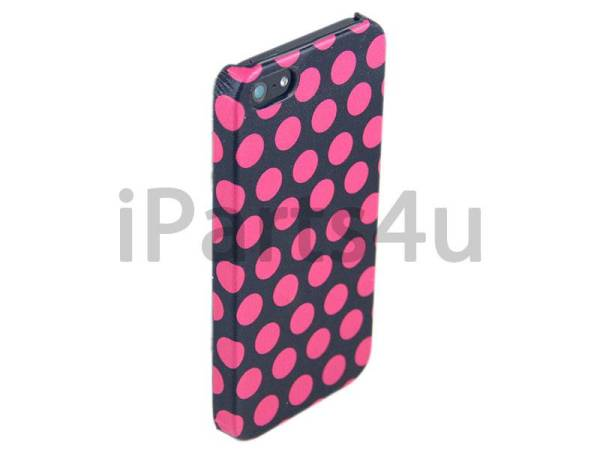 Hardcover Snap Case iPhone 5/5S Stippen Roze
