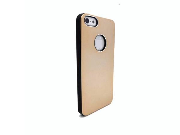 iPhone 5/5S Hardcase hoesje logo aluminium Goud