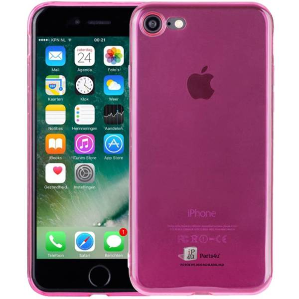 Ultra Dun iPhone 8/7 Hoesje Siliconen Roze Transparant