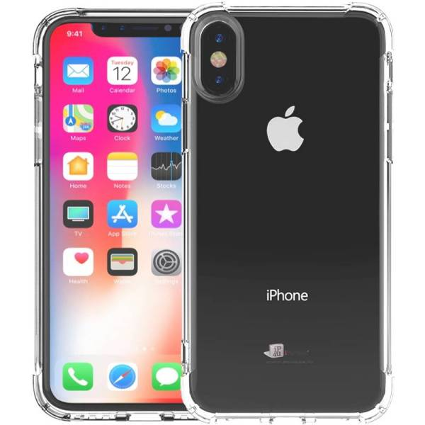 Shockproof iPhone X Hoesje Siliconen Bumper Transparant