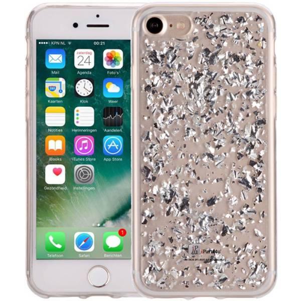 iPhone 8/7 Glitter Hoesje Snippers Zilver