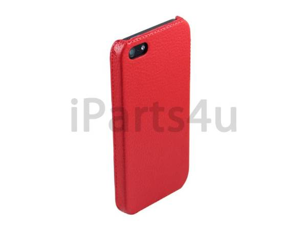 Hardcover Snap Case iPhone 5/5S Luxe Leder Rood
