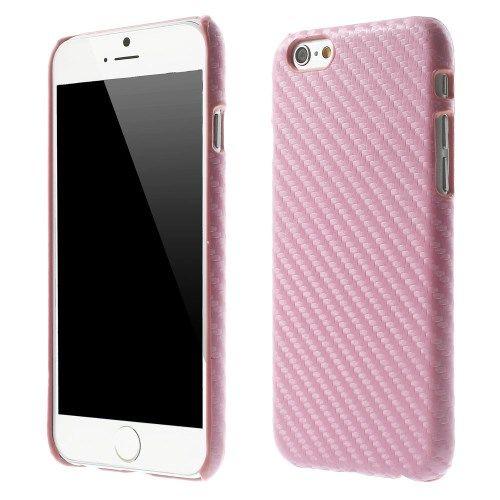 Carbon Hardcover case iPhone 6 en 6S Roze
