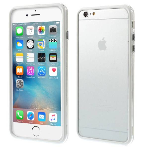 iPhone 6 en 6S Bumper Transparant Wit