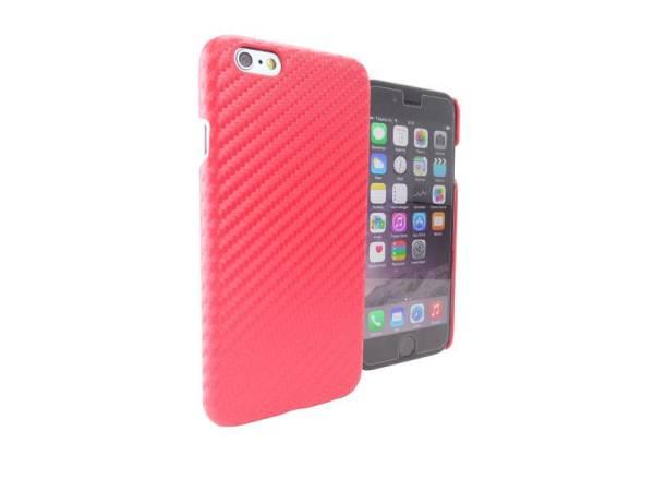 Carbon Hardcase iPhone 6 en 6S Rood