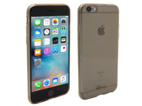 iPhone 6S Hoesje Ultra Dun Siliconen Goud Transparant