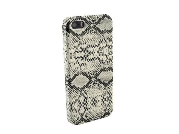 iPhone 5 en 5S Hardcover hoesje Slangenprint Wit