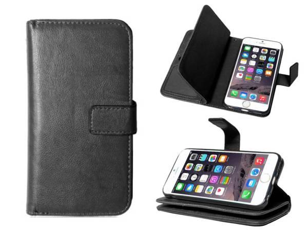 iPhone 6/6S Bookcase Hoesje Clutch Uitneembaar Zwart