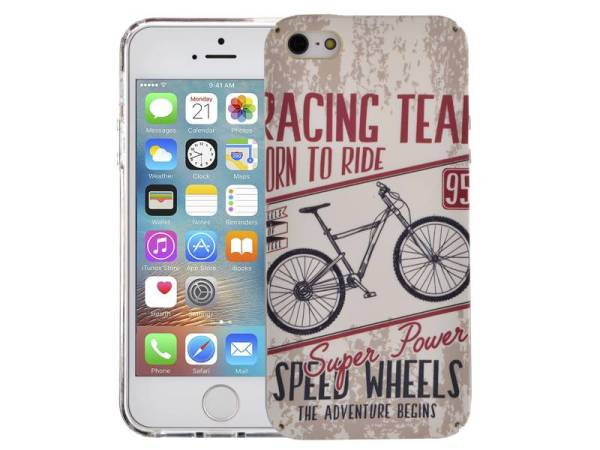 iPhone SE/5S/5 Hoesje Vintage Look met MTB