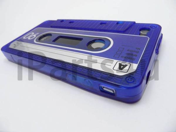 Retro Cassettebandje Hoesje iPhone 4&4S Blauw