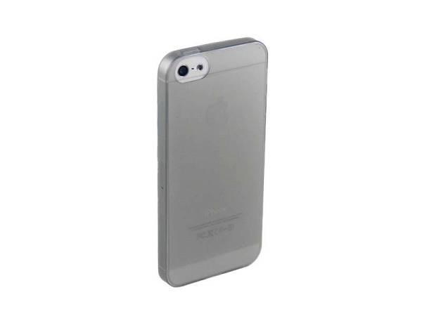 Ultra dunne siliconen gel hoesje iPhone 5/5S zwart transparant