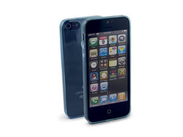 Ultra Dun iPhone 5/5S hoesje Bescherming Uitgangen Blauw Transp
