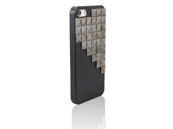 Hardcover Snap Case hoesje iPhone 5/5S vierkante studs zwart