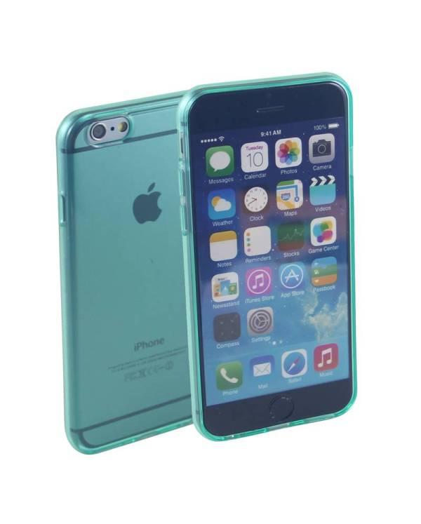 Siliconen Gel TPU iPhone 6 en 6S Hoesje Groen Transparant