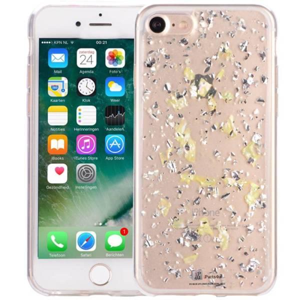 iPhone 8/7 Glitter Hoesje Snippers Parelmoer Geel