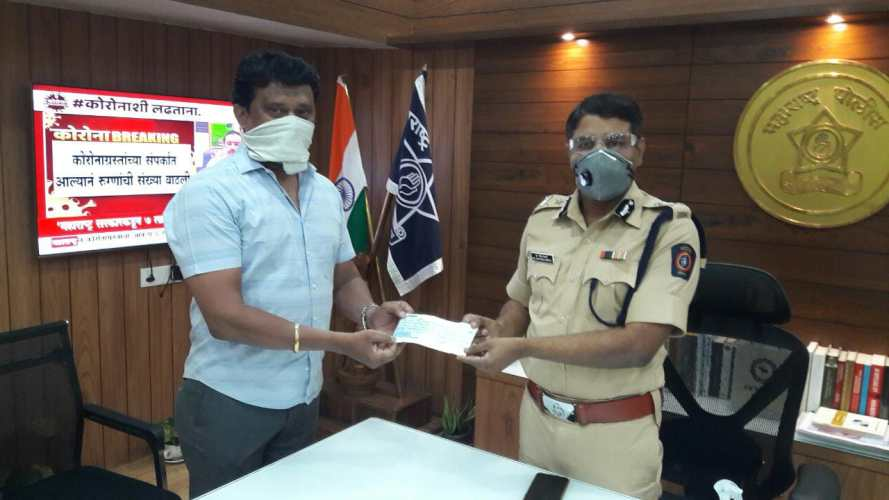 Goel-Ganga-Developments-donation-Pune-Police-Welfare-Fund-Corona
