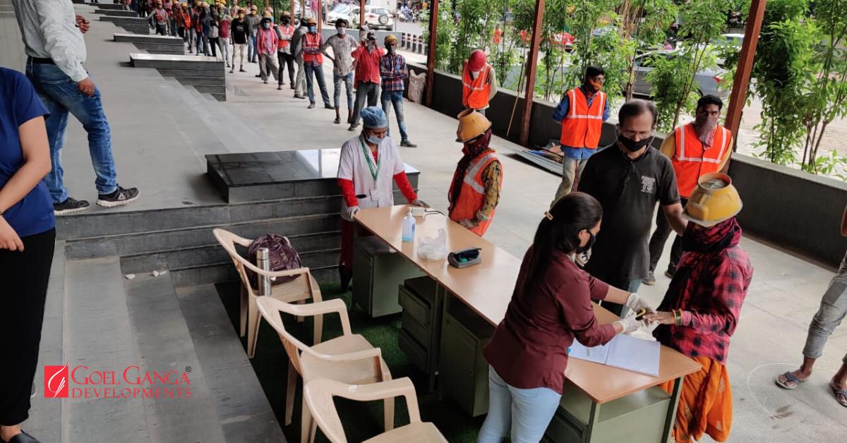 Medical-Checkups-for-Labours-at-Ganga-Platino