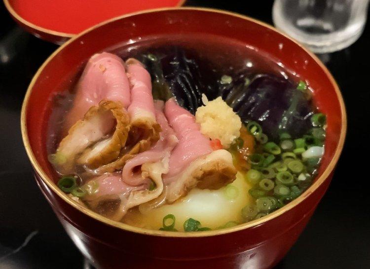 鴨の冷汁 - 荒木町 松庵 蕎麦前割烹