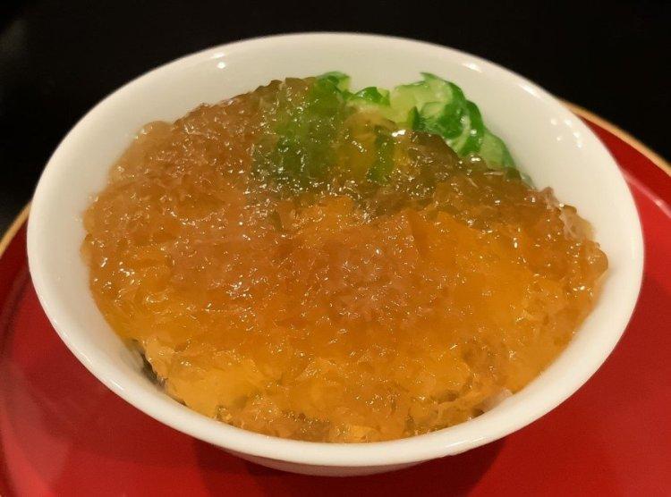 ワタリガニとジュレ - 荒木町 松庵 蕎麦前割烹