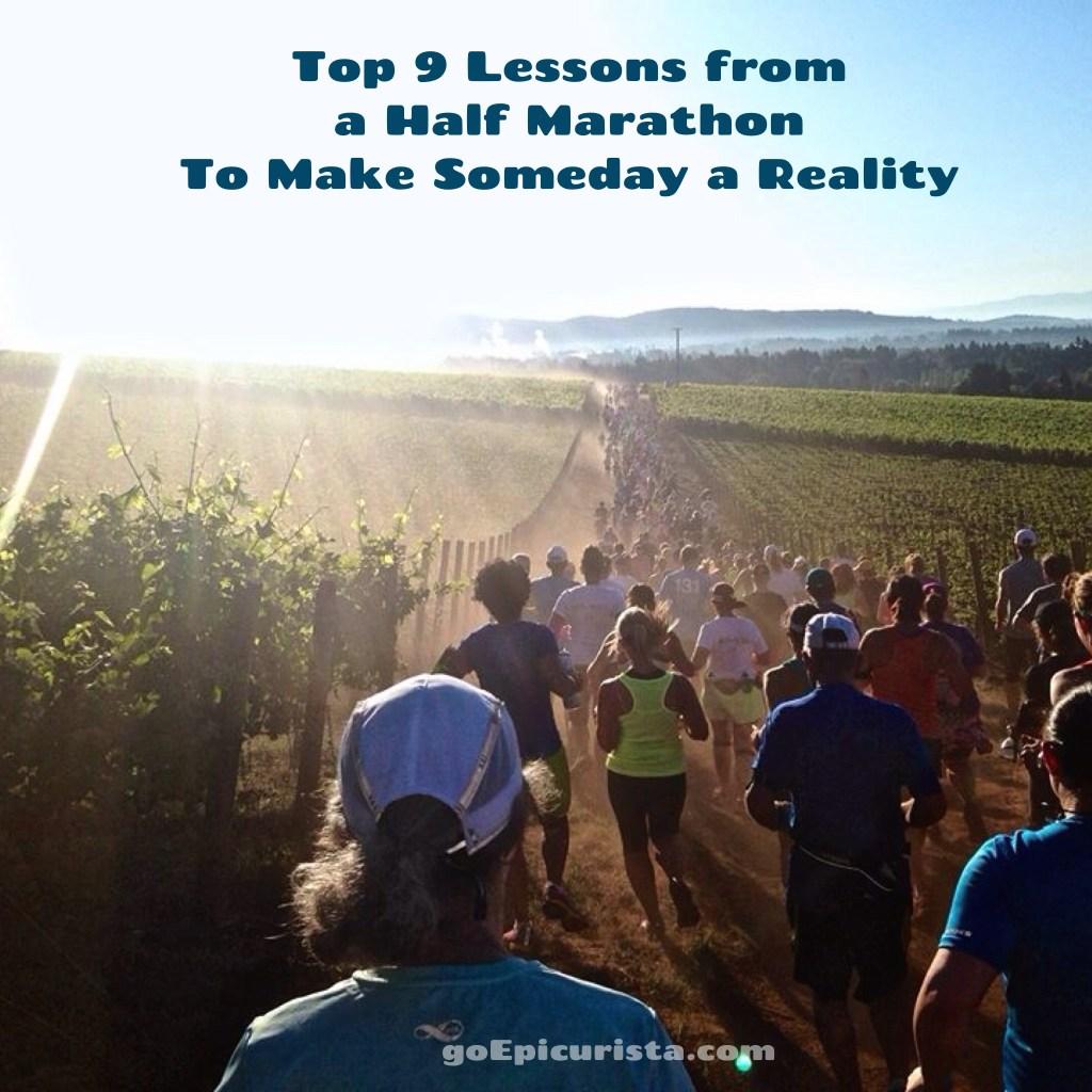 Top 9 Lessons from Half Marathon