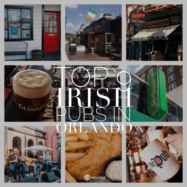 Top 9 Irish Pubs in Orlando with www.goepicurista.com, perfect for St Patrick's Day