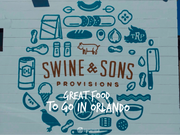 Swine and Sons Provisions To Go In Orlando with www.GoEpicurista.com and James and Julie Petrakis