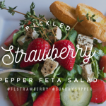 Pickled Strawberry Pepper Feta Salad #SundaySupper #FLStrawberry