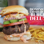 Dominican Chimichurri Burger Deluxe, Late Night Street Food of Dominican Republic