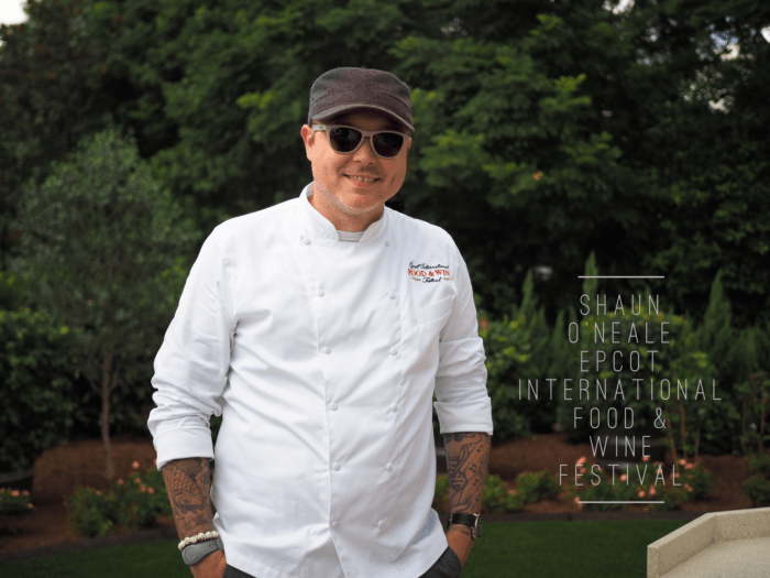 Epcot Food and Wine Festival with MasterChef winner Shaun O'Neale