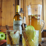 Fall Cocktail's Best Southern Apple Pie Sangria recipe by GoEpicurista.com made with CK Mondavi and Family Chardonnay and Vanilla Bourbon
