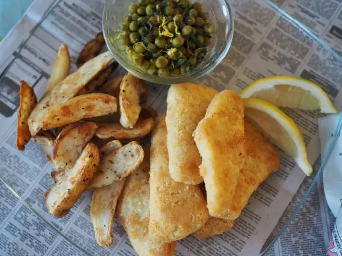 Guide for Easy British Pub Night at Home with World Port Seafood Fish and Chips and garden peas