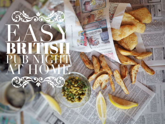 Easy British Pub NIght at home with fish and chips from World Port Seafood ready to go from freezer to oven