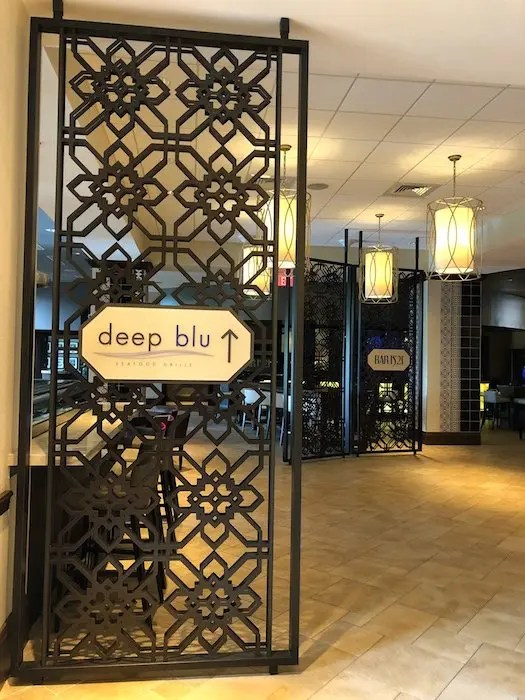 Deep Blu Seafood Grill at Wyndham Grand Orlando Resort Bonnet Creek review with photos
