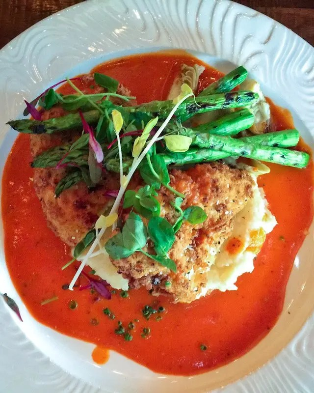 9 Tasty Reasons to Visit Soco in Orlando includes Must Eat Items on the menu of this popular Thornton Park neighborhood restaurant like this vegetarian cauliflower steak dish