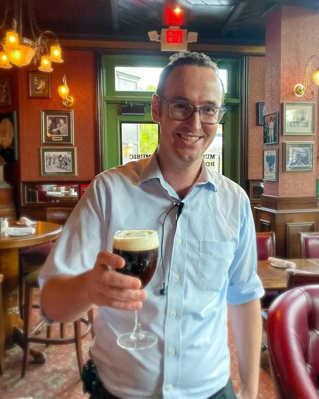 Raglan Road General Manager Alan Delahunt offers Fun Irish Coffee Drinks, Put Your Face in a Pint and New Dishes at Raglan Road Irish Pub in Orlando for more reasons to visit in Disney Springs