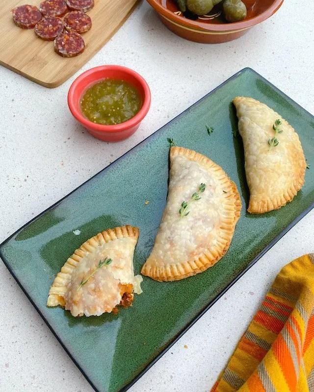 Easy Beef Empanada Recipe from Cafe Tu Tu Tango using pantry staples for a fun Spanish Night at Home