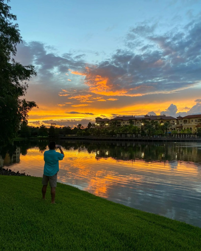 Sunset Photography. 29 Socially Distanced Fun Things To Do on Vacation at Wyndham Grand Orlando Resort Bonnet Creek