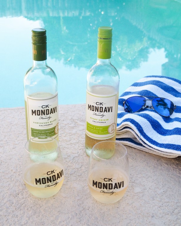 CK Mondavi Wines poolside