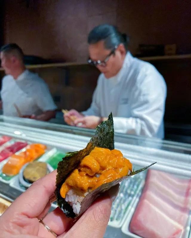 Iron Chef Morimoto at Momokase in Morimoto Asia in Disney Springs