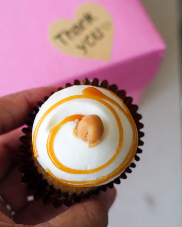 Salted Caramel Cupcake. Get to know Sheila Norton of B Cupcakes in Orlando, support black owned businesses and add some sweet inspiration to your life with cakes of all sizes.