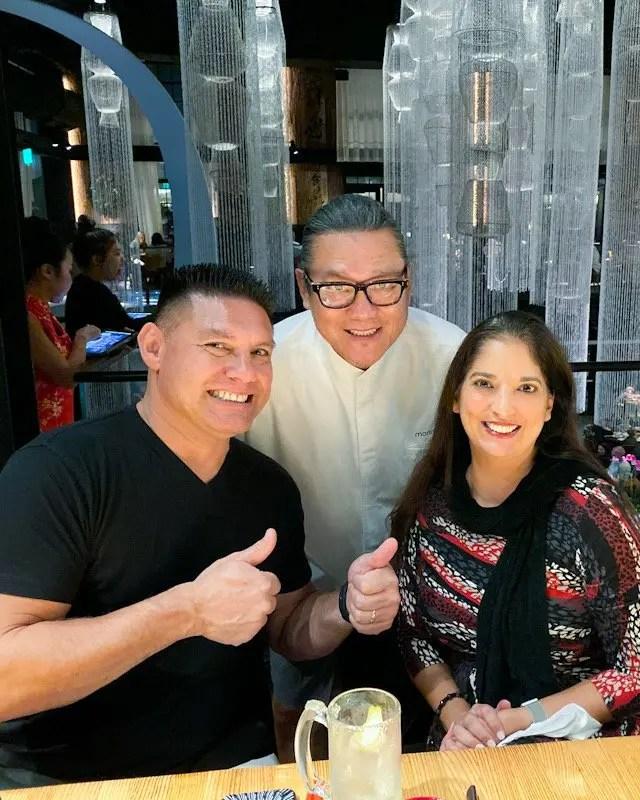 Iron Chef Masaharu Morimoto at Momokase omakase Dinner in Morimoto Asia at Disney Springs Florida