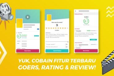 Yuk, Cobain Serunya Fitur Terbaru GOERS, Rating & Review untuk Film!