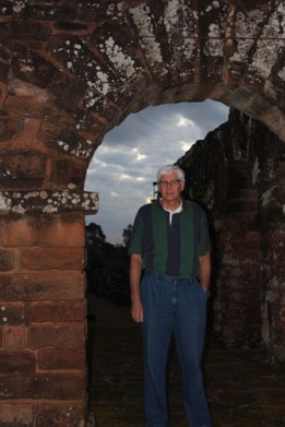 Dad at Jesuit Mission Ruins in Trinidad, Paraguay