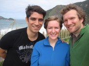 Marcelo, Allison, Isaiah at beach in Rio Janeiro