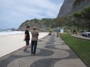 Isaiah, Marcelo on beach of Rio de Janeiro