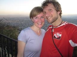 Allison and Isaiah on top of San Bernardo hill in Salta, Argentina