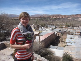 Allison in Humahuaca, Argentina