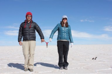 Marvin & Eve Holding Fetus Isaiah at Uyuni Salt Flats