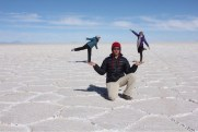 Marvin Holding Ballerinas Eve & Allison at Uyuni Salt Flats